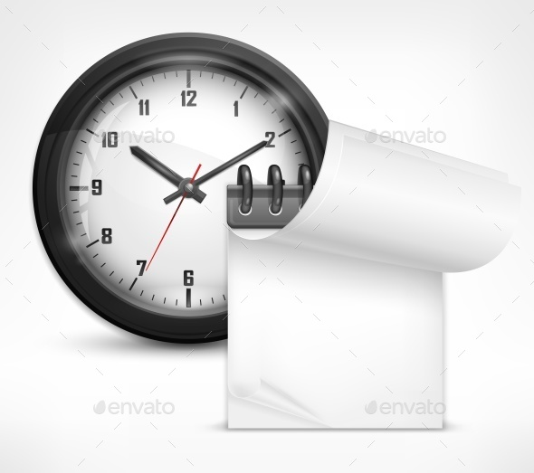 Clock and Notebook - Concepts Business