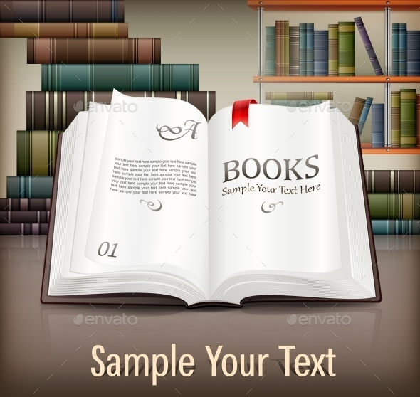 Books Open with Text on Desk - Concepts Business