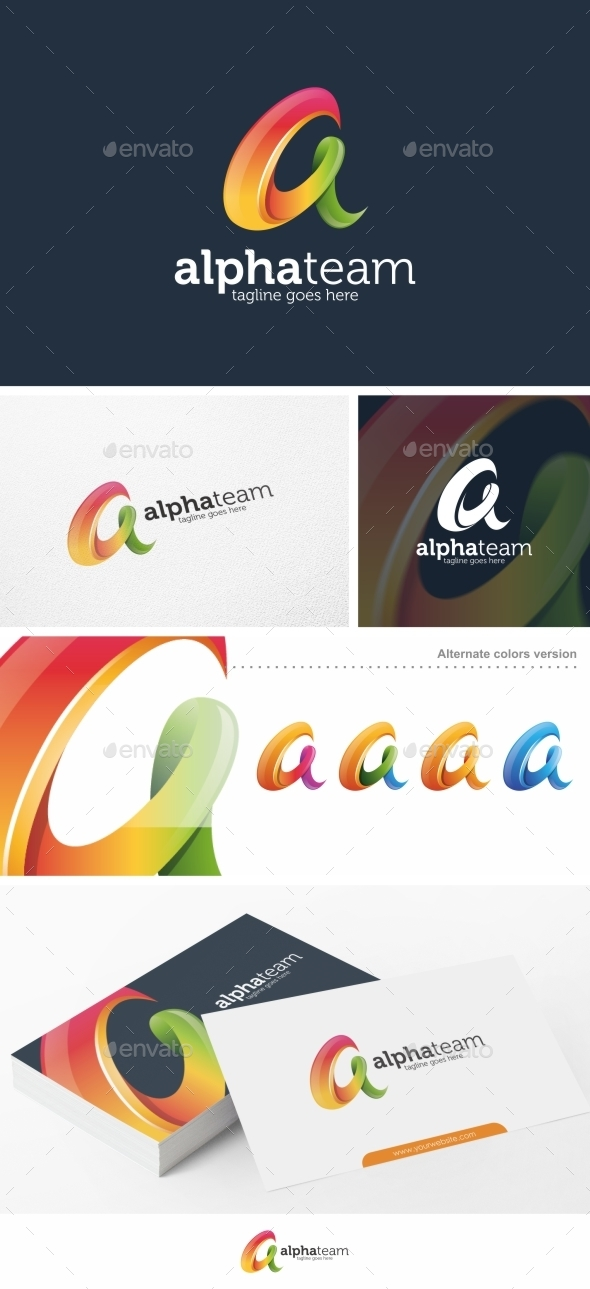 Alpha Team / Letter A - Logo Template - Letters Logo Templates