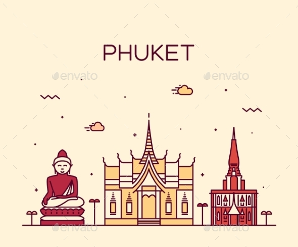 Phuket Linear Style - Buildings Objects