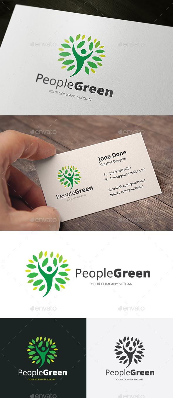 People Green - Nature Logo Templates