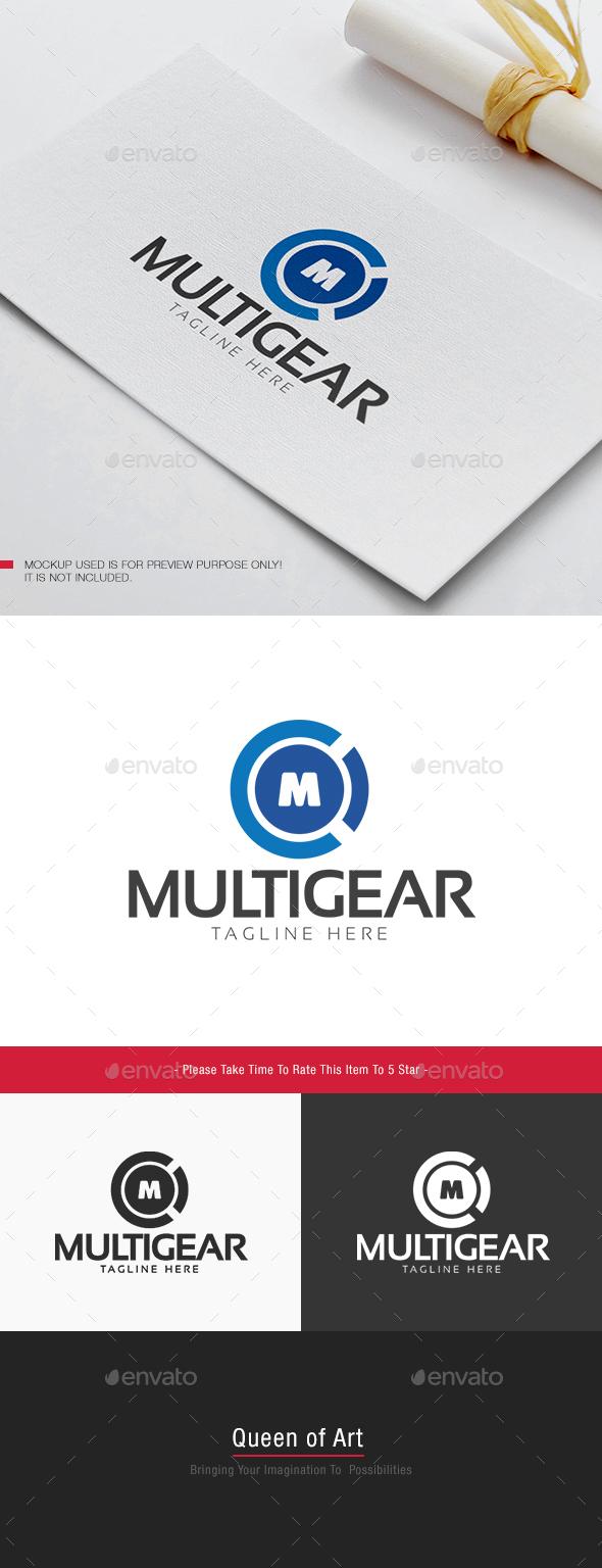 Multi Gear Logo - Letters Logo Templates