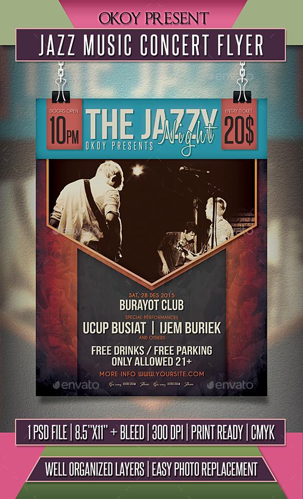 Jazz Music Concert Flyer - Events Flyers