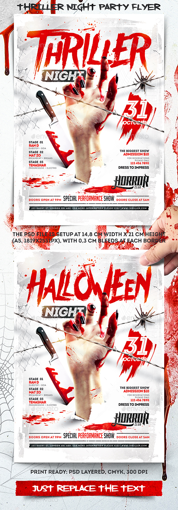 Thriller Night Party Flyer