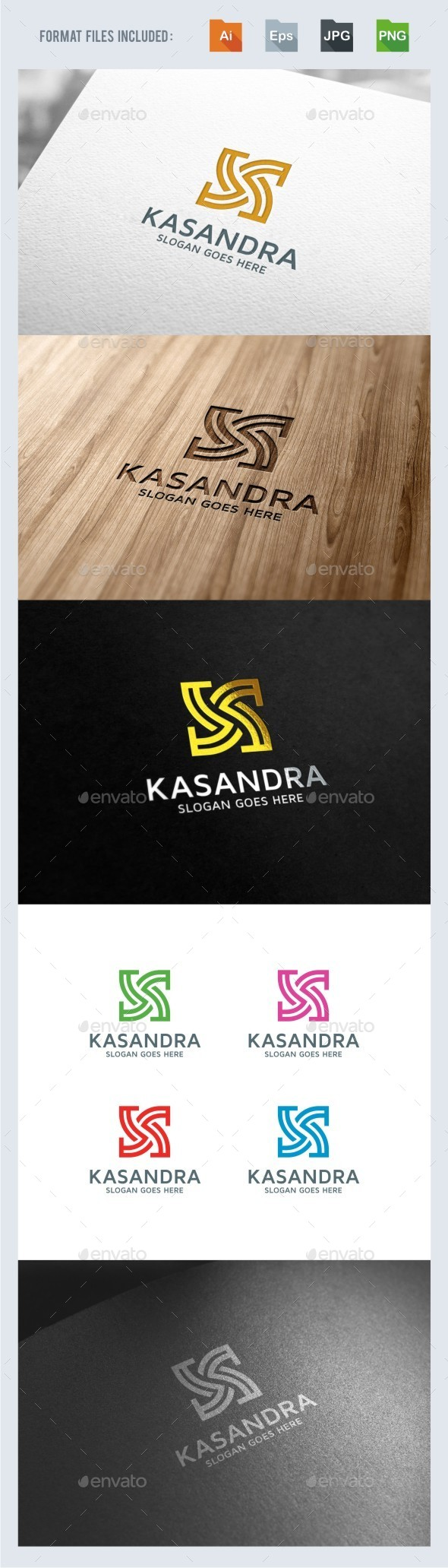 Kasandra - Abstract K Letter Logo Template - Letters Logo Templates