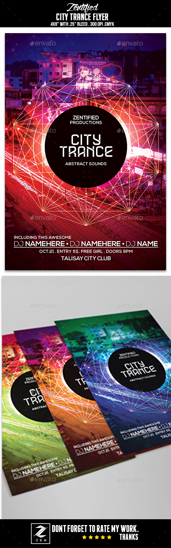 City Trance Flyer - Events Flyers