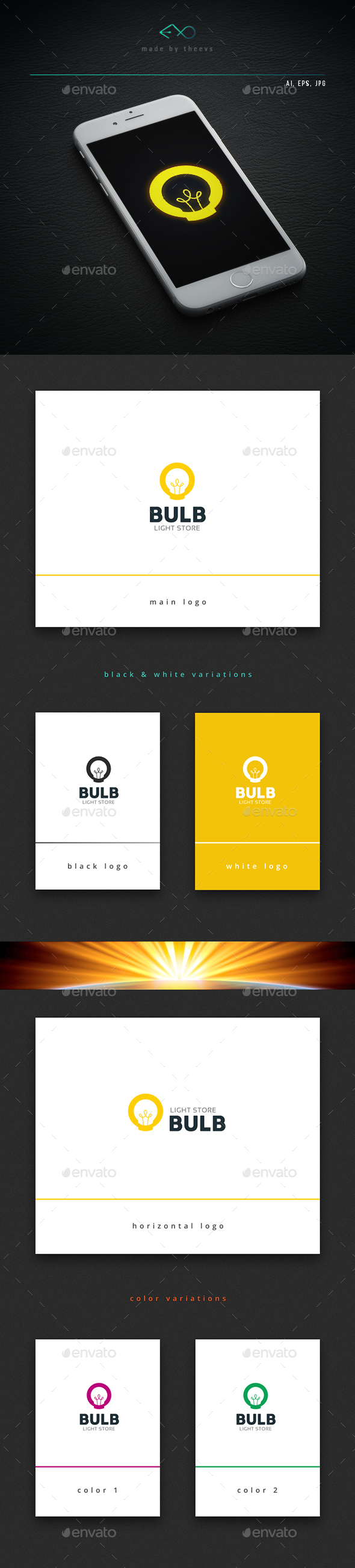 Bulb - Objects Logo Templates