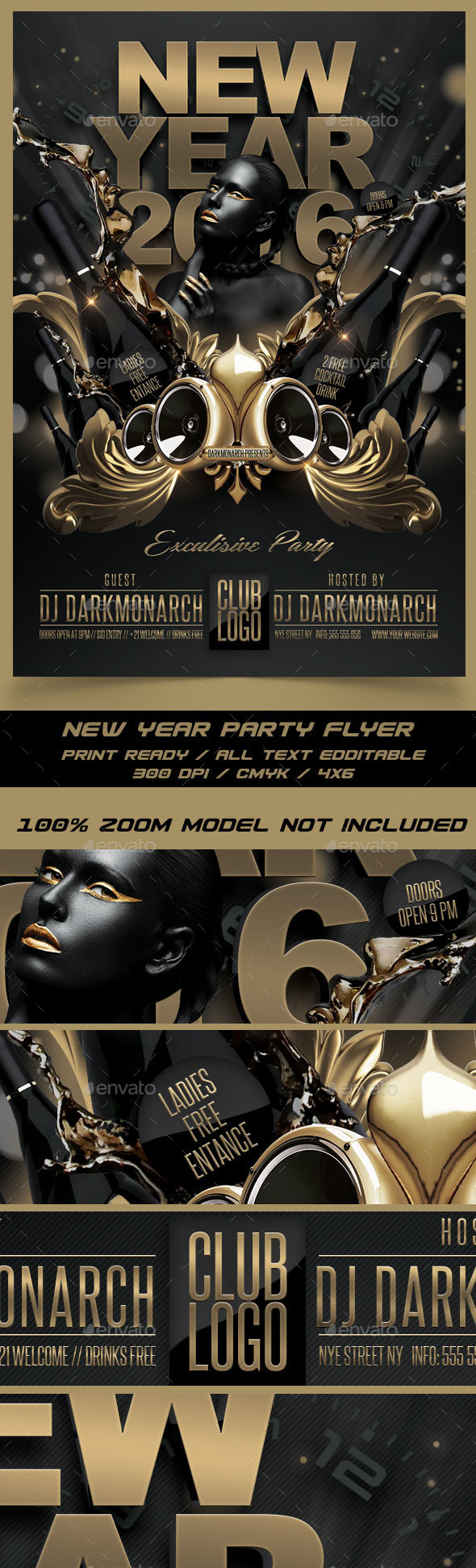 New Year Exclusive Party - Events Flyers