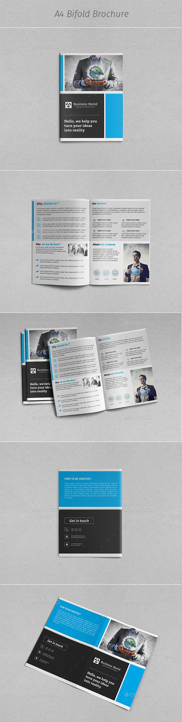 A4 Business Bi-fold Brochure - Corporate Brochures