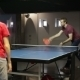Two Male Friends Playing a Game Of Table Tennis - VideoHive Item for Sale