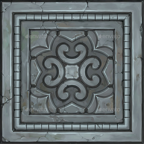 Hand Painted Ornate Panel 03 - 3DOcean Item for Sale
