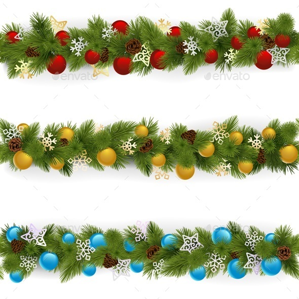 Christmas Borders Set 4 - Christmas Seasons/Holidays
