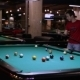 Teenager Boy Sending Ball In The Hole Of Pool Game - VideoHive Item for Sale