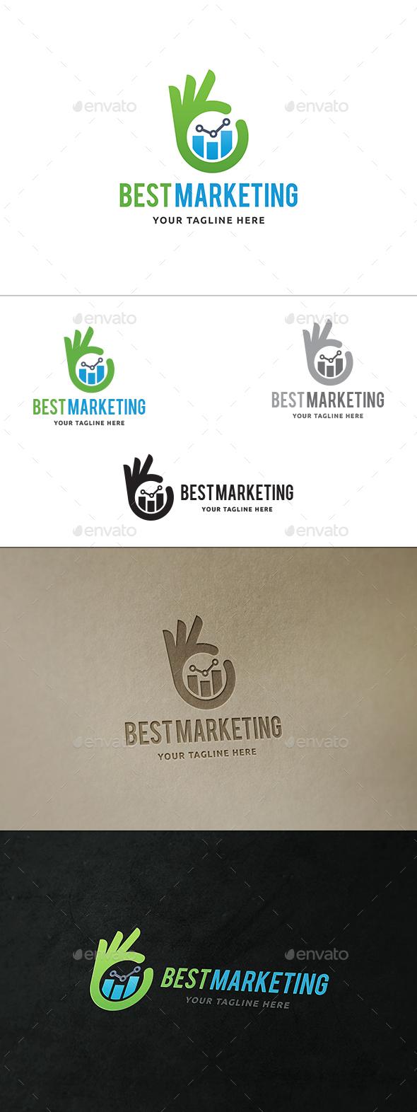 Best Marketing  - Symbols Logo Templates