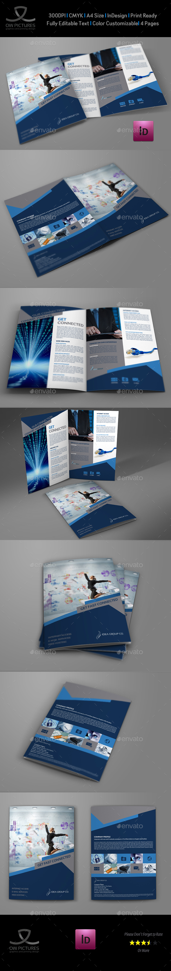 Internet Provider Services Bi-Fold Brochure - Brochures Print Templates