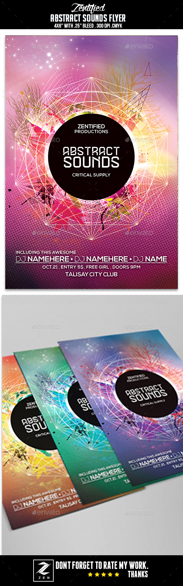 Abstract Sounds Flyer - Clubs & Parties Events