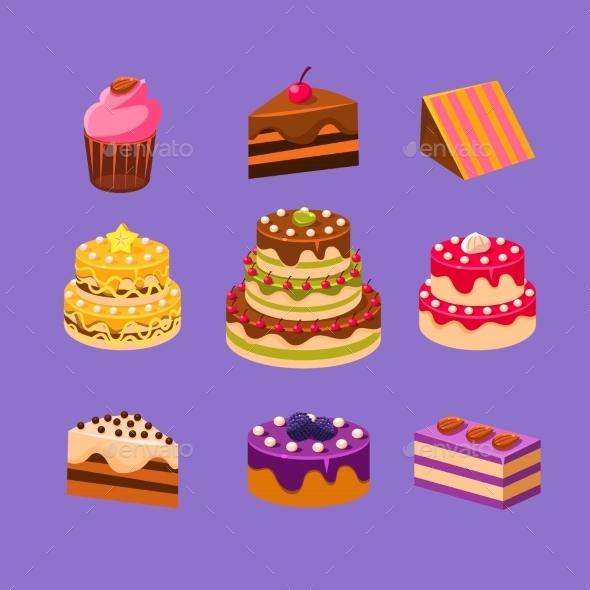 Cakes And Desserts Set - Birthdays Seasons/Holidays