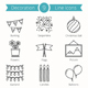 9 Decoration Objects Line Icons - GraphicRiver Item for Sale