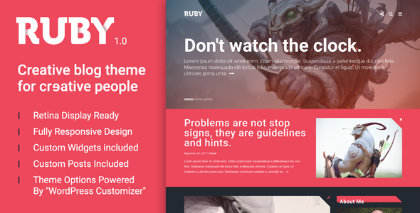 Ruby – A Creative WordPress Blog Theme