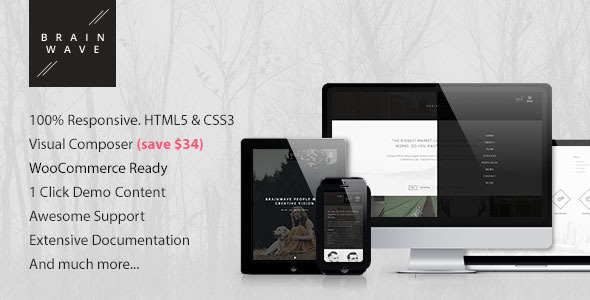 Brainwave — Multipurpose One/Multi Page Theme