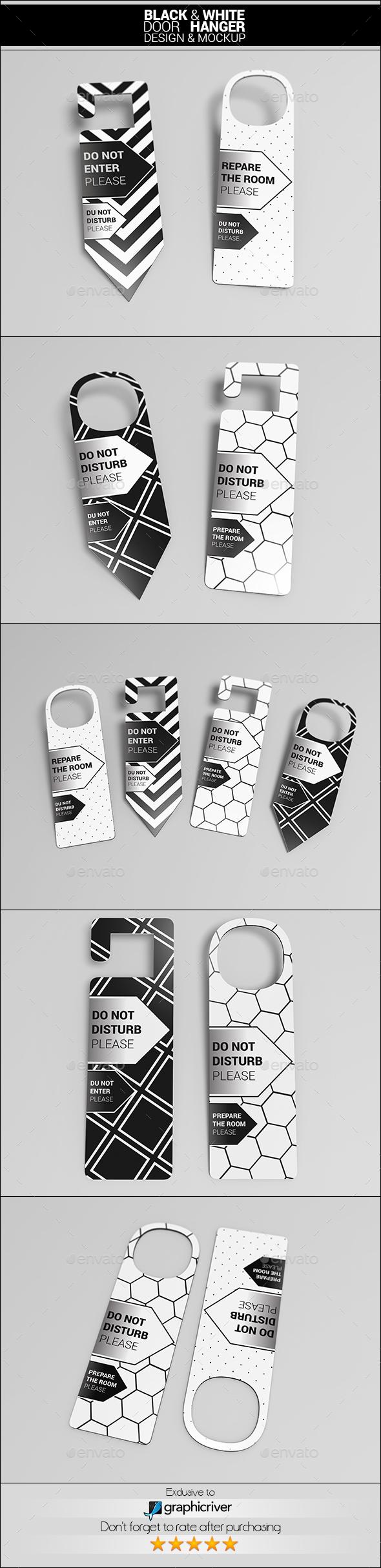 Door Hangers - Product Mock-Ups Graphics