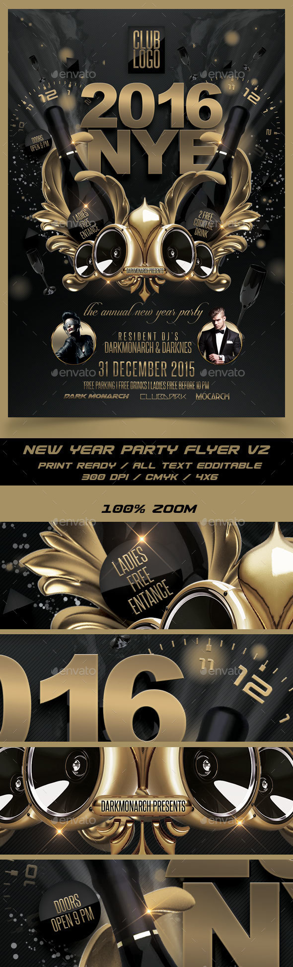 New Year Party Flyer V2 - Events Flyers