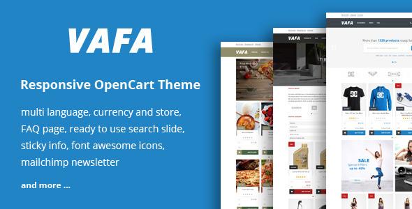 VAFA – Responsive OpenCart Theme