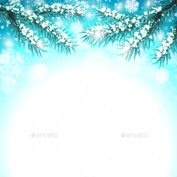 Winter Snow Background - Christmas Seasons/Holidays
