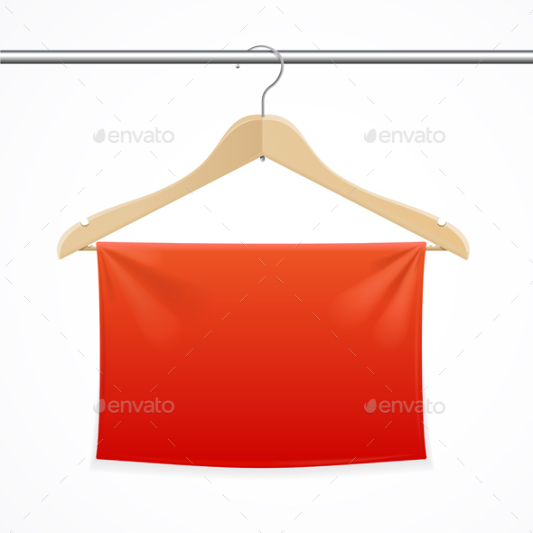Hanger Fabric Background. Vector - Commercial / Shopping Conceptual