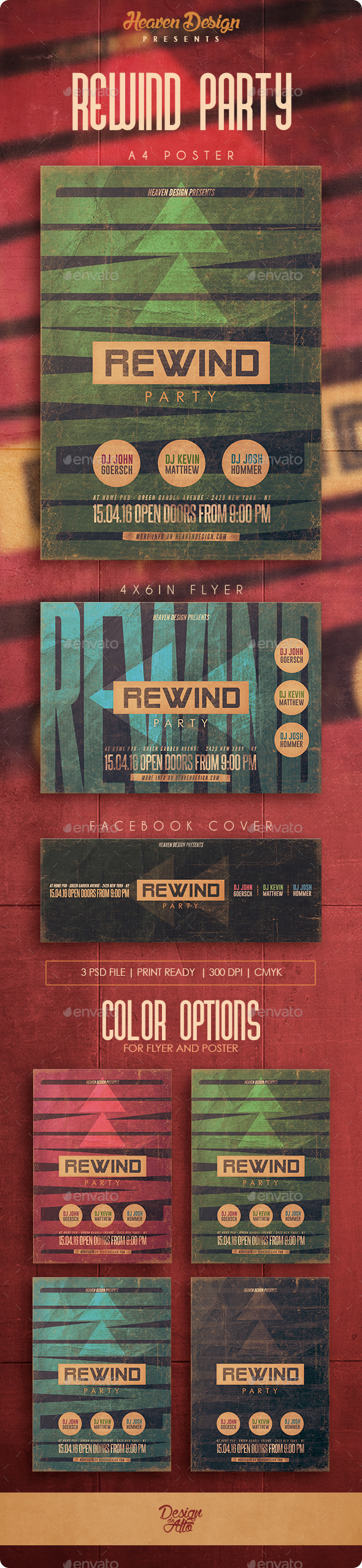 Rewind Party | Poster & Flyer - Clubs & Parties Events