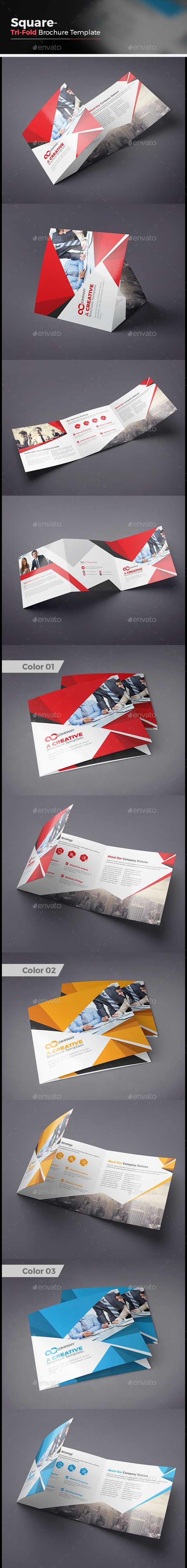 Tri fold Square Brochure - Corporate Brochures