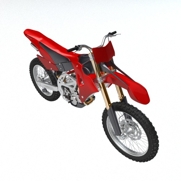 Motcross bike - 3DOcean Item for Sale