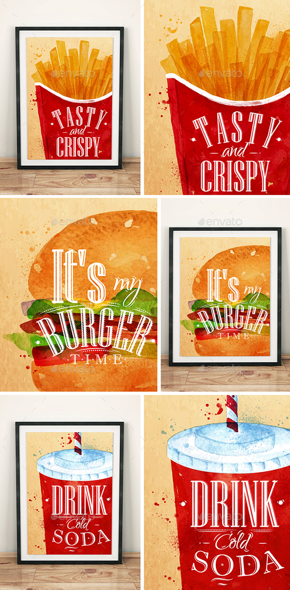 Fast Food Posters - Food Objects