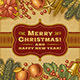 Vintage Merry Christmas Card - GraphicRiver Item for Sale