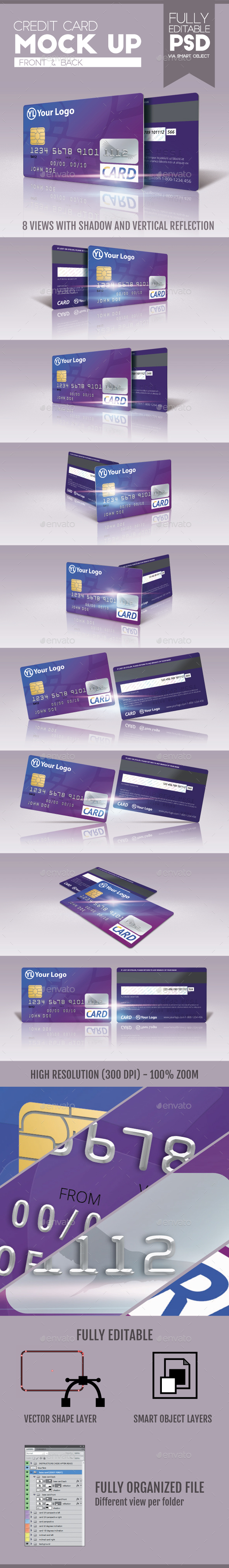 Credit Card Mock Up v.2 - Miscellaneous Print