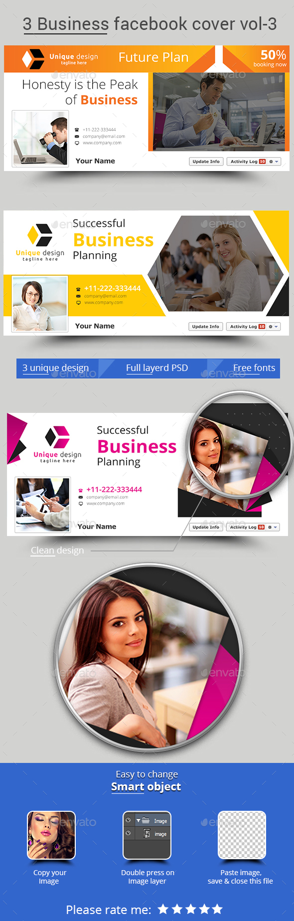 3 Business Facebook Cover Vol-3 - Facebook Timeline Covers Social Media