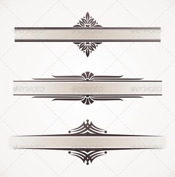 Decorative Vector Frames With Ornamental Elements - Decorative Vectors