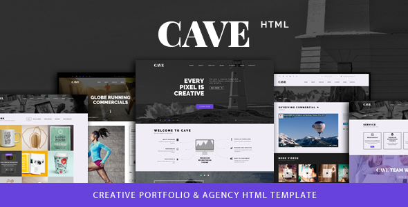 Cave – Creative Multipurpose Bootstrap Template