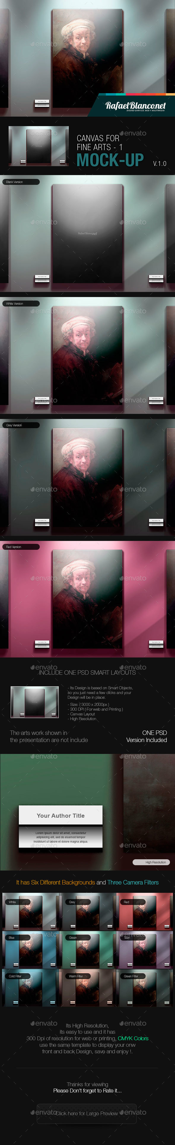 Canvas for Fine Arts Mock-Up 1 - Miscellaneous Displays