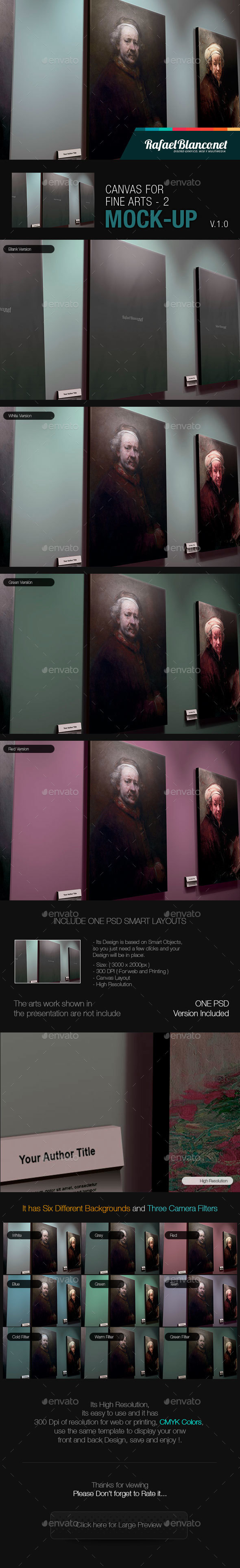 Canvas for Fine Arts Mock-Up 2 - Miscellaneous Displays