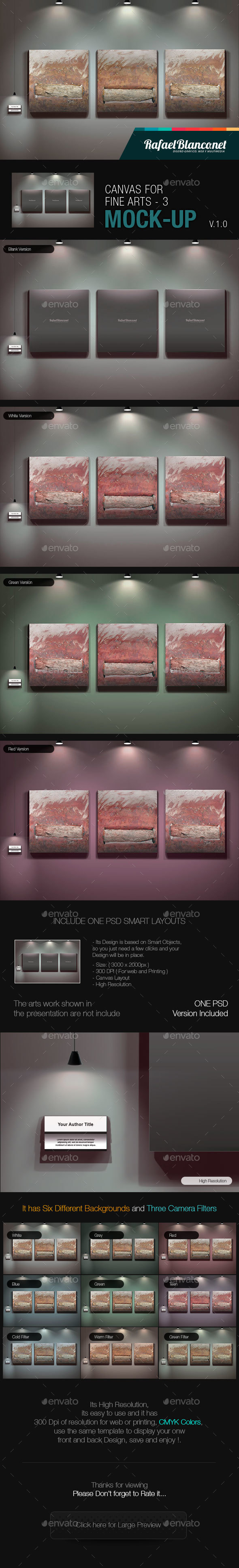 Canvas for Fine Arts Mock-Up 3 - Miscellaneous Displays