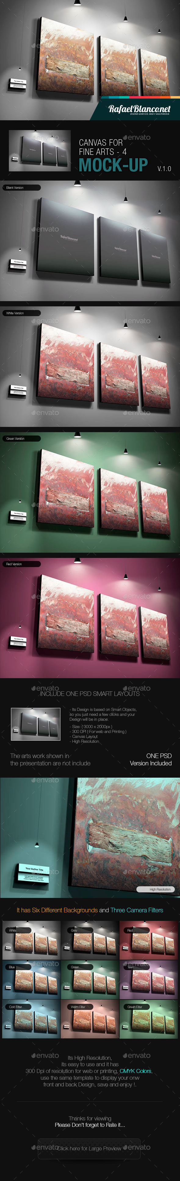 Canvas for Fine Arts Mock-Up 4 - Miscellaneous Displays