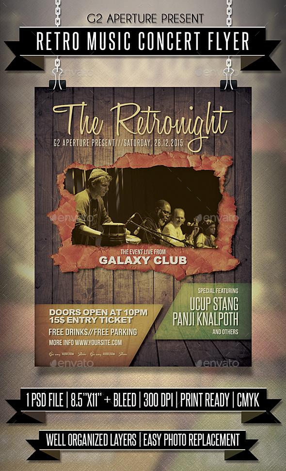 Retro Music Concert Flyer - Events Flyers
