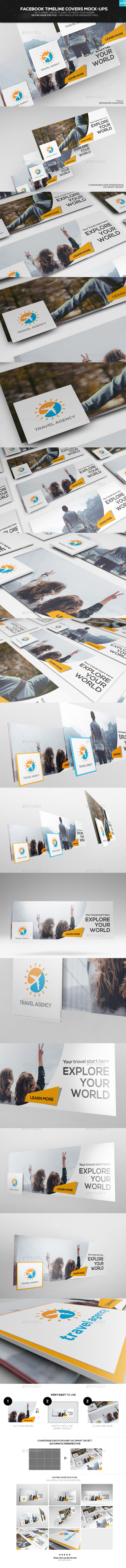 Facebook Timeline Covers Mock-up - Miscellaneous Displays
