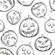 Halloween Seamless Black Background - GraphicRiver Item for Sale