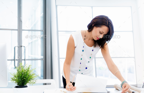 Modern successful business woman - Stock Photo - Images