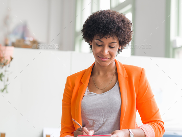 Portrait of young businesswoman - Stock Photo - Images