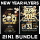 2 in 1 New Year Flyers Bundle - GraphicRiver Item for Sale
