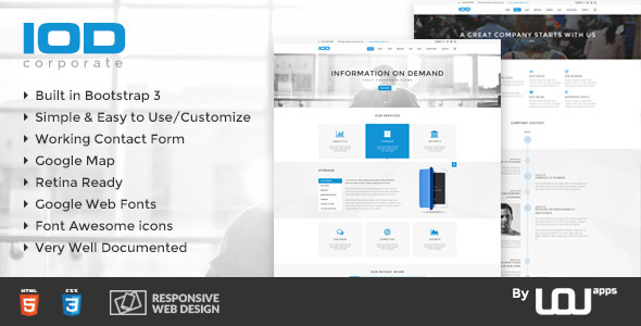 IOD – Corporate HTML Template