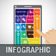 Puzzle Infographic template on mobile phone - GraphicRiver Item for Sale